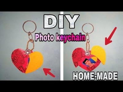 How to make heart keychain at home | photo keychain | | beautiful keychain | | with photo | | diy |