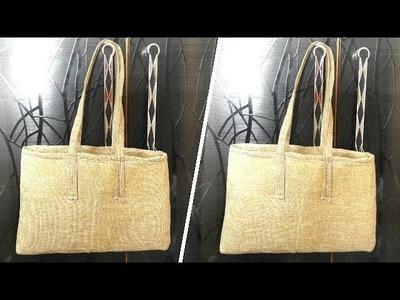 How to Make Jute Tote Bag at Home   Jute Bags Making at Home   Banjara Bag Making   UMA