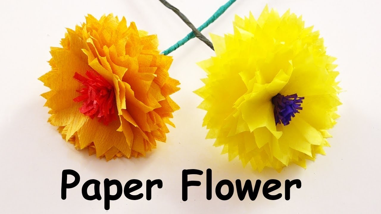 How To Make Paper Flower Easy Origami Paper Flower Craft Do Craft