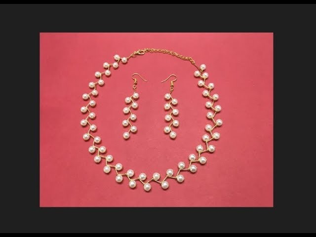 How to Make Pearl Necklace and Earrings || Diy || Jewellery Making