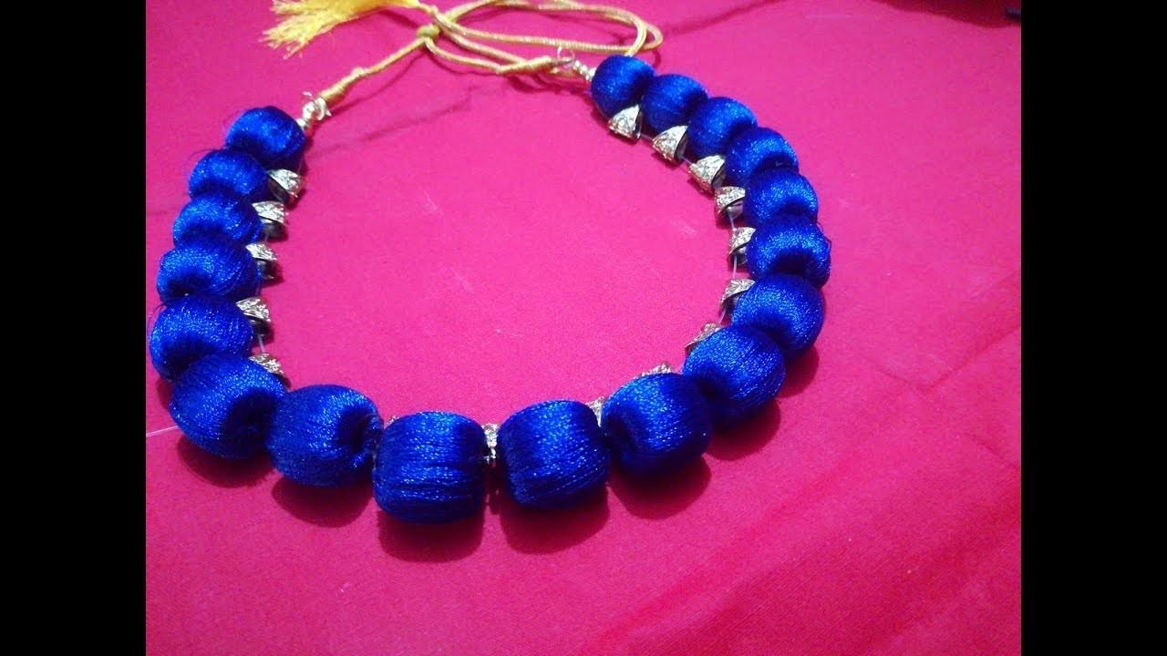 How to make silk thread jewellery