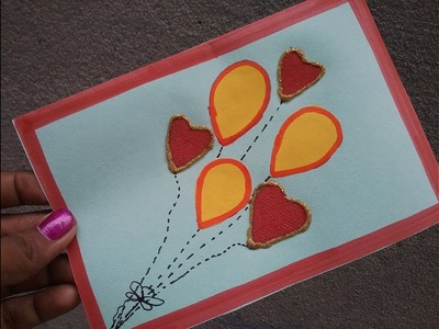 How to make simple greeting card, DIY greeting card making ideas for beginners, Mother's day 2018