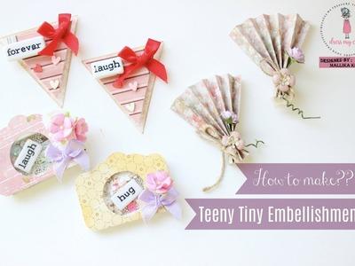 How to make teeny tiny embellishments   Dress My Craft   Aola DIY
