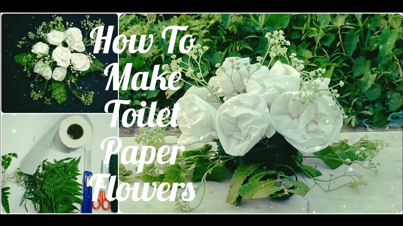 How To Make Toilet Paper Flowers Diy Easy Tutorial By Sr