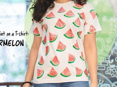 How To Paint On A T-shirt: Watermelon Print DIY   Hobby Ideas India