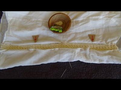 How to widen a shirt adding crochet side panels!