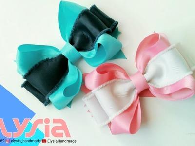 Laço Boutique 2 Loop ???? Super Loopy Bow Grosgrain Ribbon 4 cm ???? DIY by Elysia Handmade