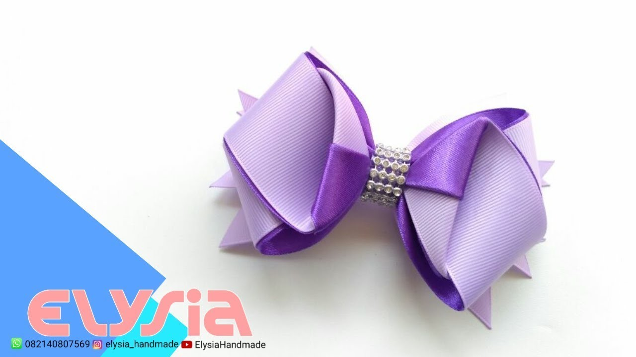 Laço Formoso Triangular Part II ???? Spiked Ribbon Bow ???? DIY by Elysia Handmade