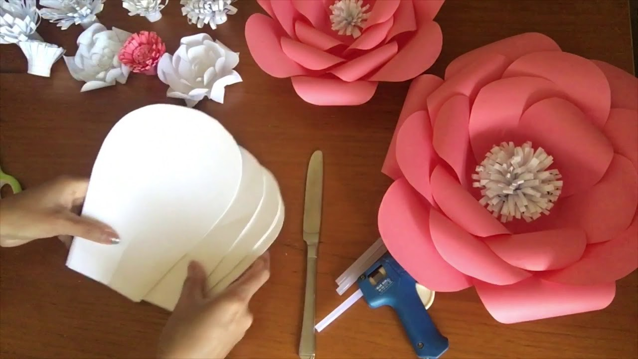 Large paper flower tutorial diy template 2 mightylinksfo