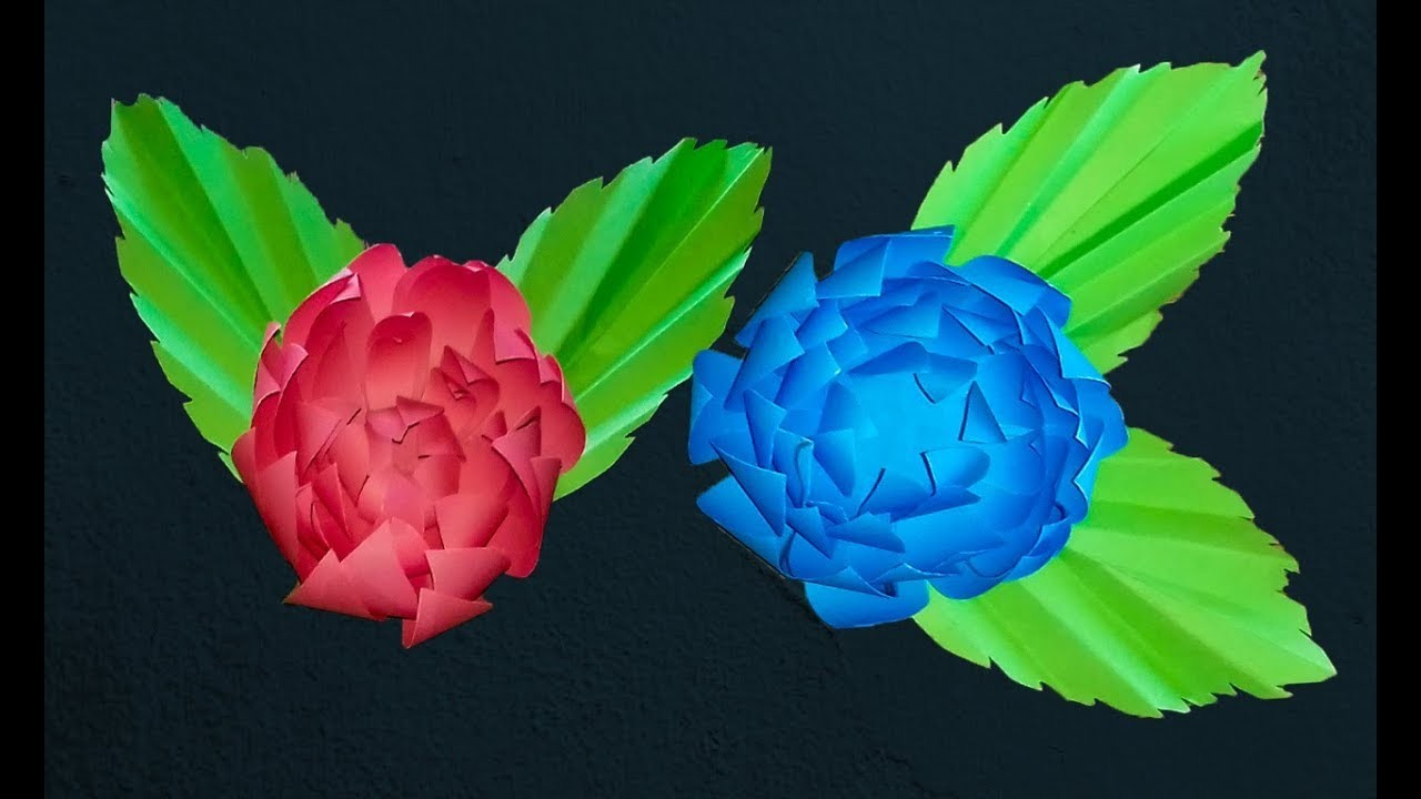 Making Beautiful Paper Flowers With Colourdiy Crafts Ideas