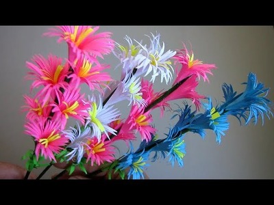 Paper Flower Stick. DIY. Paper Craft. Handcraft. DIY: How to Make Beautiful Paper Flower Stick