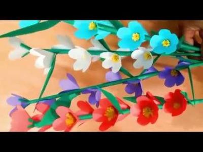 Paper Flower Stick | কাগজের ফুল | DIY Paper Craft : Flower Stick