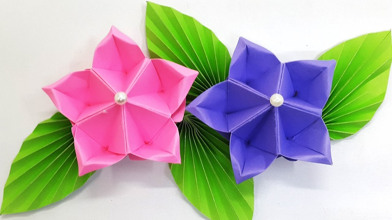 Paper Flower Tutorial Origami Flower Amazing And Easy Diy Flowers