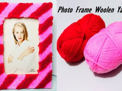 PHOTO FRAME Idea | How to Make Photo Frame using Woolen Yarn and Cardboard |