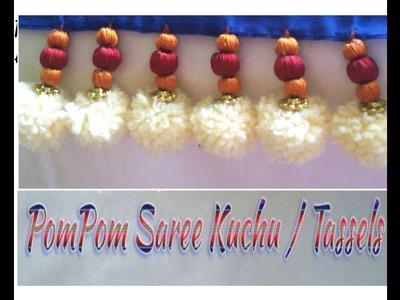 Pom Pom Saree Kuchu.Tassels.How to make PomPom