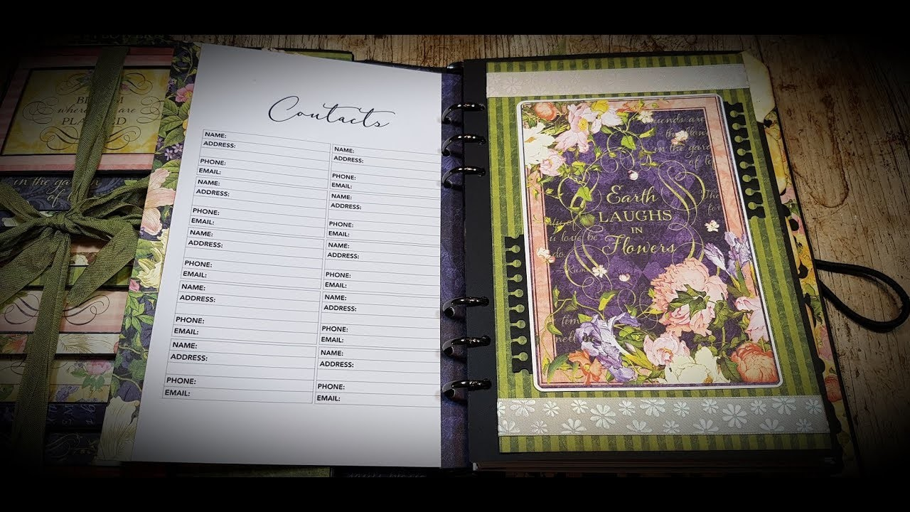 Tutorial 3.5 Graphic 45 Floral Shoppe Planner DT Country Craft Creations