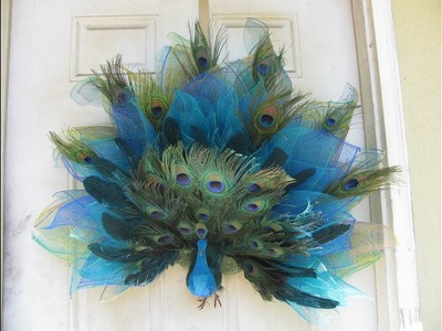 2 of 3 How To Make Carmen's  ,Large Peacock Wreath