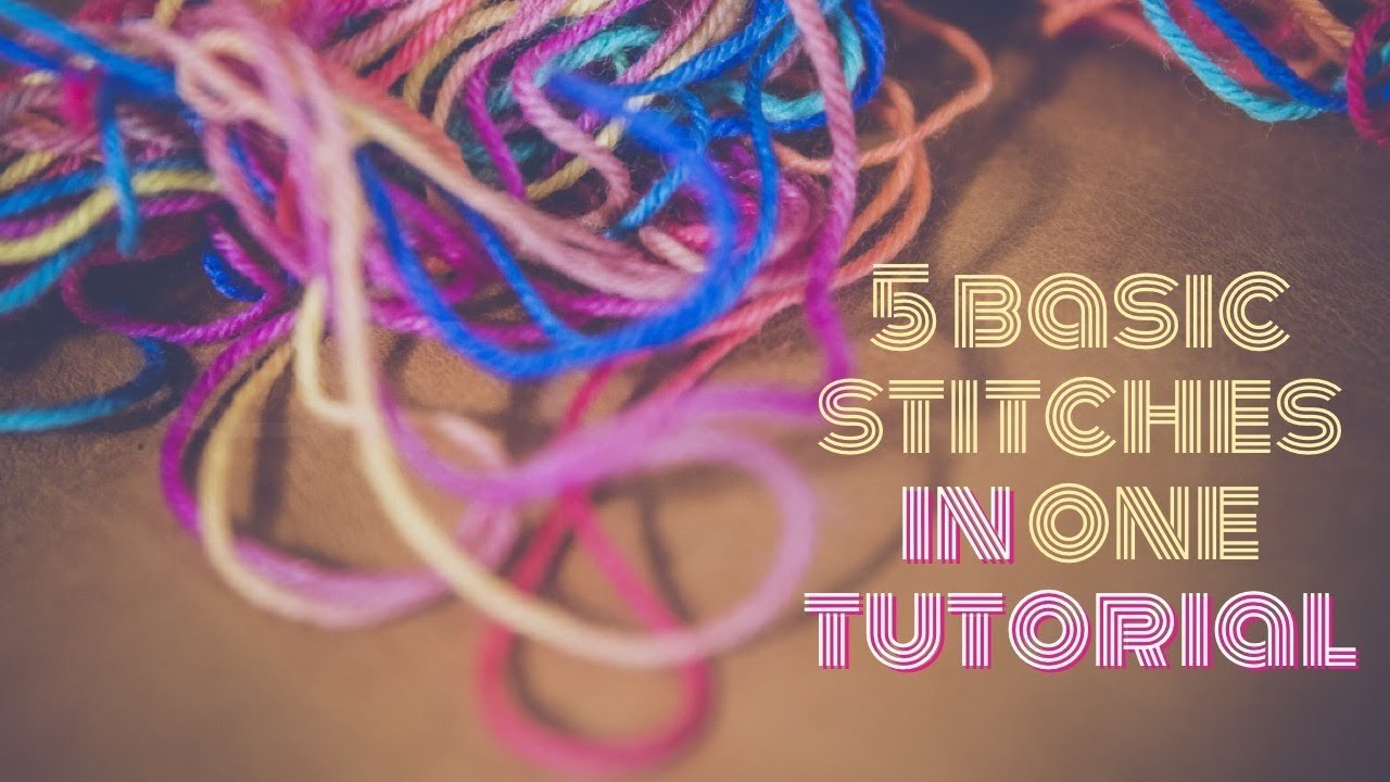 5 Basic crochet stitches in Tamil with English subtitles