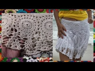A round motif for the crochet beach skirt
