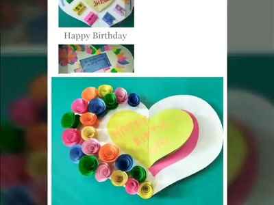 Beautiful Birthday Card for Best Friend. . How to make beautiful birthday card only with paper.