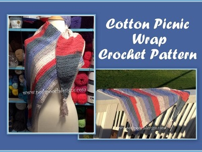 Cotton Picnic Wrap Crochet Pattern