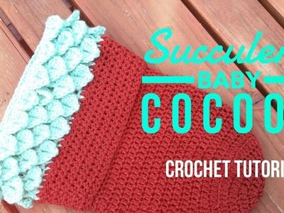 Crochet Succulent Baby Cocoon Tutorial - Easy Newborn Bunting