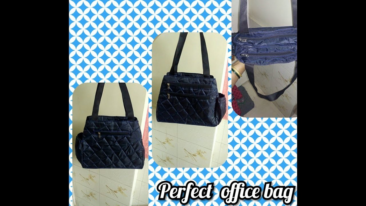 DIY How to sew a waterproof beautiful and elegant office bag for ladies