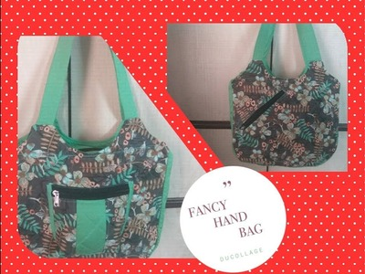 DIY  how to sew  Fancy Hand Bag at home perfectly