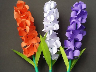 DIY: Paper Flower!!! How to Make Beautiful Paper Flower Stick.Paper Lavender!!!