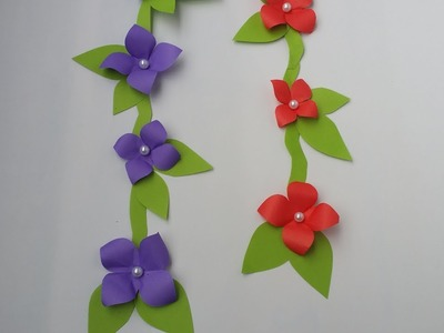 DIY: Wall Decoration Idea!!! How to Make Beautiful Flower Trailer. Lata for Wall.Room Decoration!!!