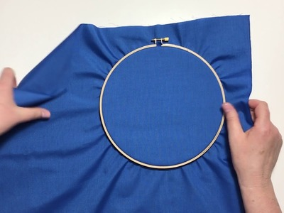 Embroidery Tutorial - How To Stretch Fabric in the Hoop