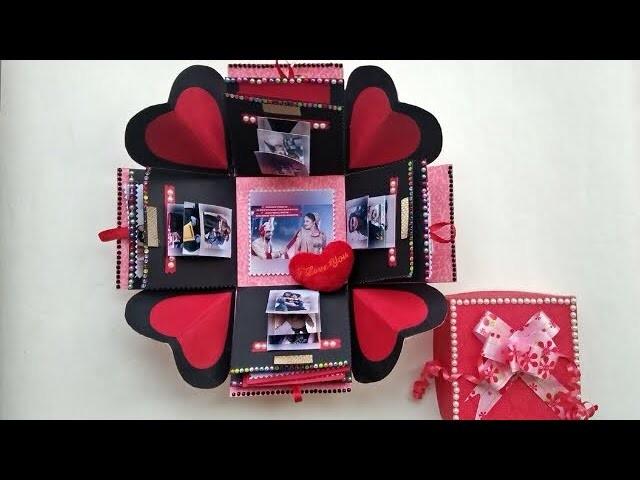 Explosion Box Birthday Gift Anniversary Gift Handmade Gift For