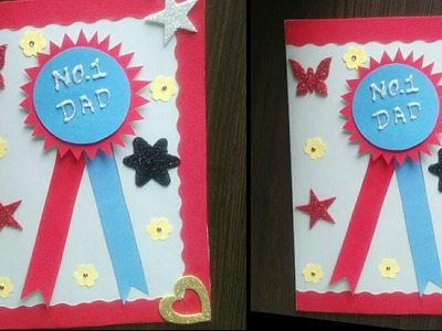Father's day card idea | how to make badge card for father's day
