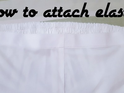 How to attach elastic to waist like ladies pant