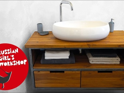 How to Build a Bathroom Vanity Cabinet of LOFT STYLE