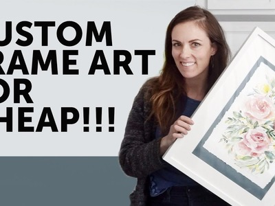 How-to Custom Frame Artwork for CHEAP!!! How-To Make a Deckled Edge in Minutes!