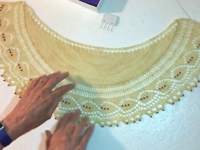 How to Damp Block a Lace Shawl