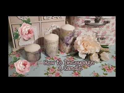 How to Decoupage a Candle