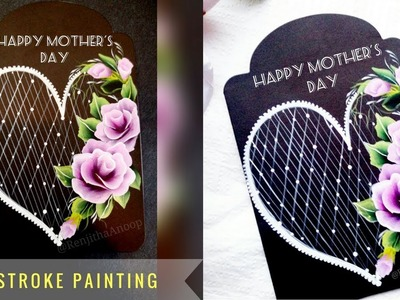 How to make a cute Greeting card using Acrylic | Mother's Day special | DIY
