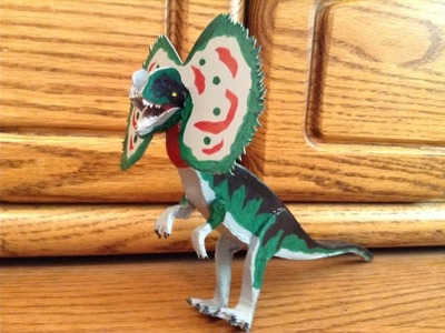 How to make a homemade Dilophosaurus out of cardboard part 4