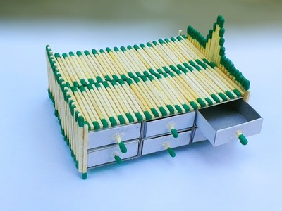 How to make a matchstick Bed | Matchstick Showpiece for House Decor | Matchstick Bed