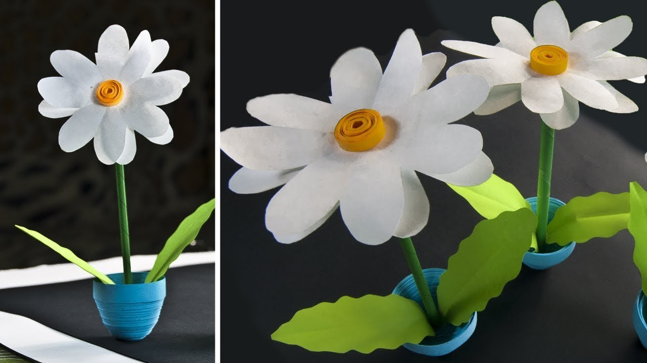 How To Make A Mini Paper Flower Pot Flowers Healthy