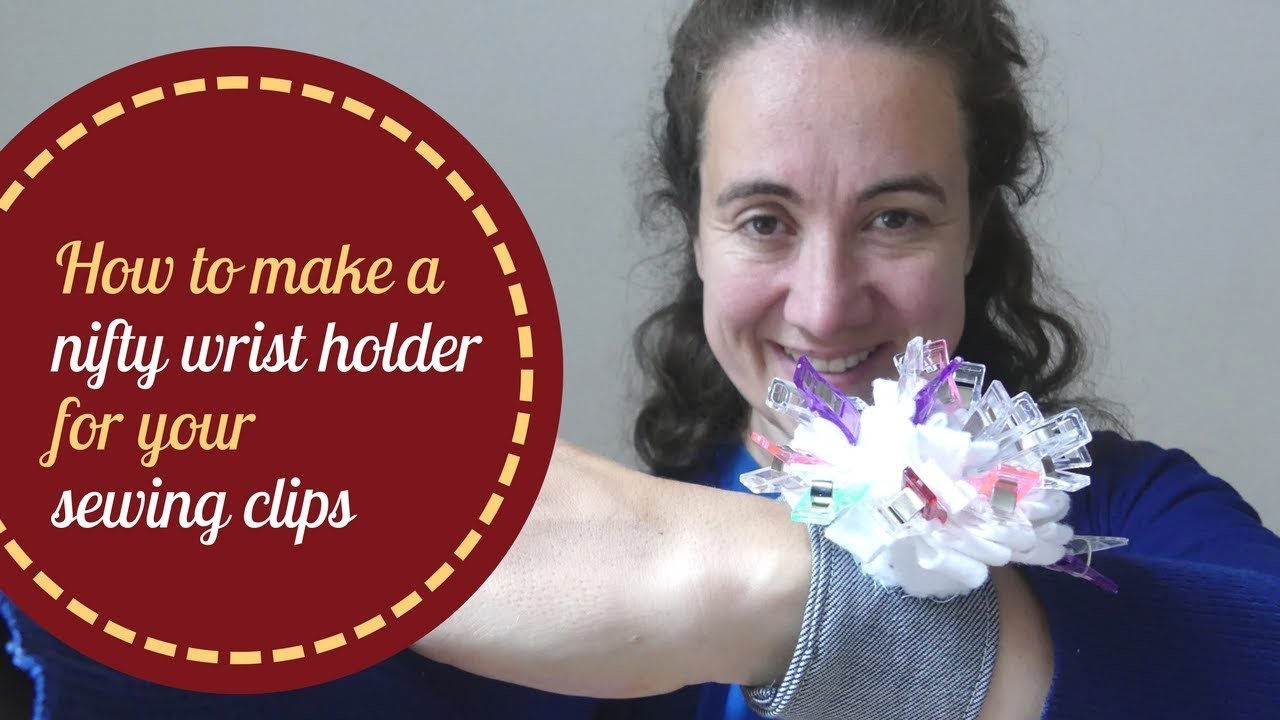 How to make a nifty wrist holder for your sewing clips