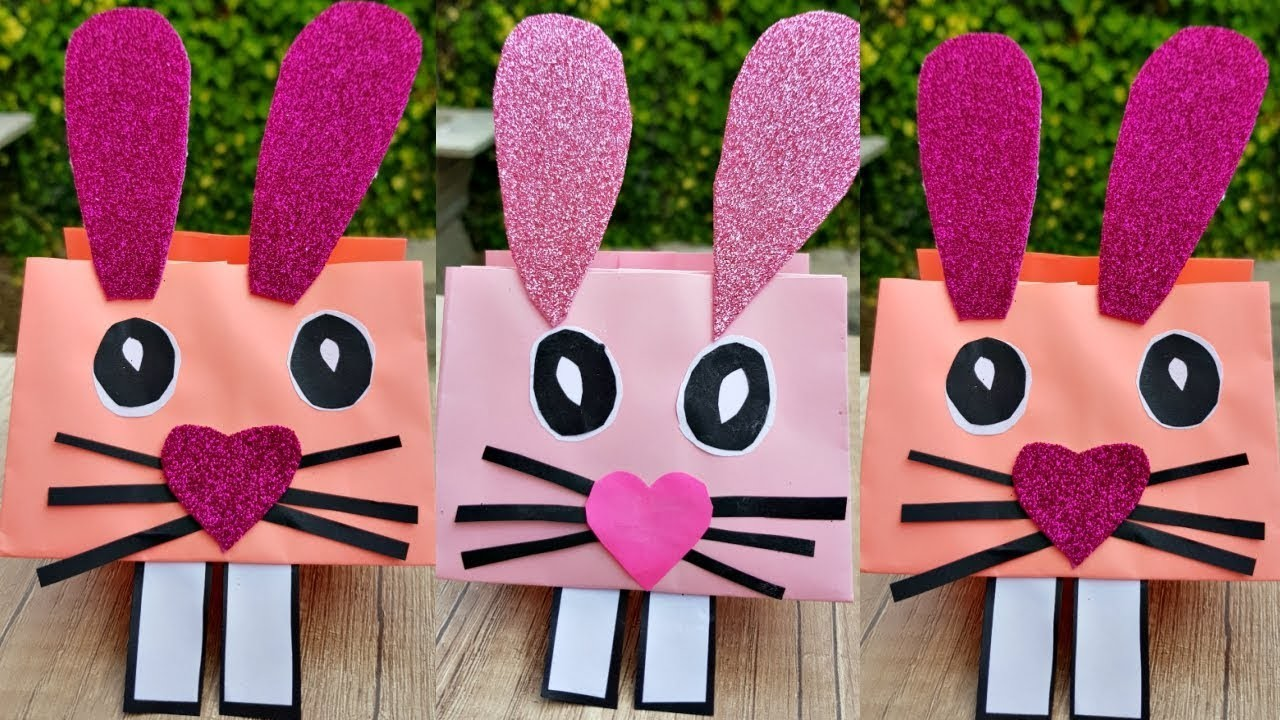 How to Make a Paper Bunny | Easy Paper Crafts
