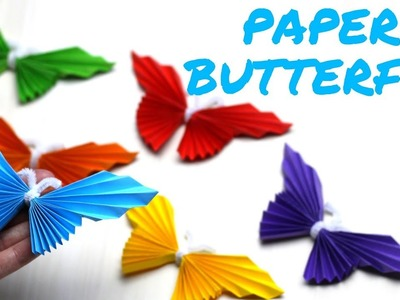 How to Make a Paper Butterfly | Mothers Day Crafts for Kids