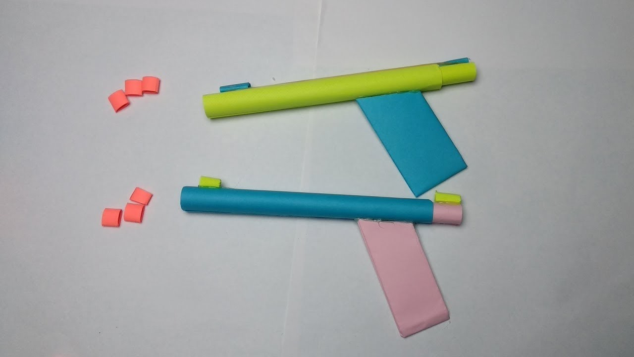 How To Make A Paper Weapon Easy For Kids Origami Weapons That Shoot