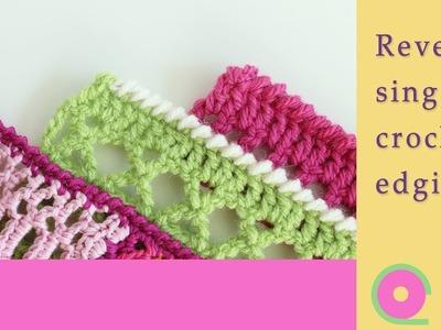 How to make a reverse single crochet edge. Crochet border