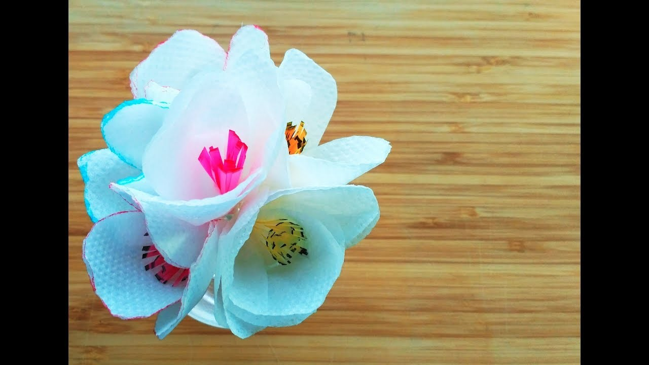 How To Make A Tissue Paper Flower Simple Tissue Paper Flower For