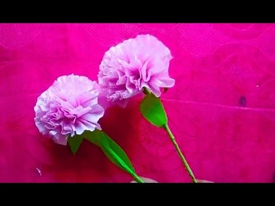 How to make a wonderful flower by Tissue paper| Paper Flowers Pro Diy
