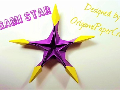 How To Make An Origami Star  ( Decoration origami ) By OrigamiPaperCraft